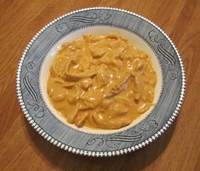 Bowl of chicken paprikash