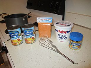 Ingredients for Chicken Paprikash