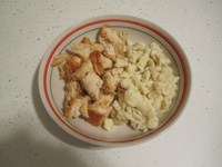 diced chicken with dumplings