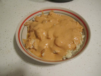 Home made chicken paprikash